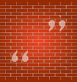 quote sign whitish icon on vector image vector image