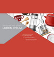 realistic dishes and utensil concept vector image