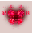 red color halftone vector image vector image