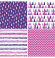 seamless hipster background patterns purple vector image