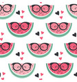 seamless pattern with funny watermelon vector image vector image
