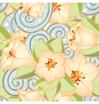 Seamless pattern with stylized flowers Ethnic vector image