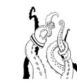 sketch octopus tentacles sketch octopus vector image vector image