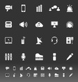 Sound icons on gray background vector image vector image