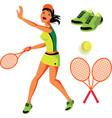 Tennis Set vector image vector image
