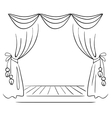 Theater stage sketch vector image vector image