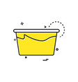tub icon design vector image