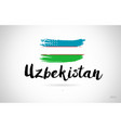 uzbekistan country flag concept with grunge vector image