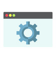 web optimization flat icon seo and development vector image vector image