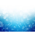 white blue winter christmas background with vector image vector image