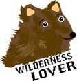 Wilderness Lover vector image vector image