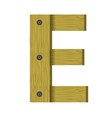wood letter E vector image vector image