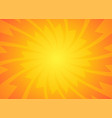 yellow orange sun pop art retro rays background vector image vector image
