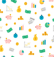 Financial seamless pattern vector image