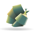 Abstract bird symbol vector image