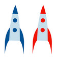 rocket set and technology ship vector image