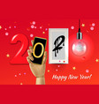 2020 happy new year concept background vector image vector image