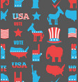 american elections seamless pattern republican vector image vector image