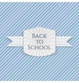 Back to School greeting Emblem vector image