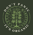 banner for legalize marijuana with cannabis plant vector image