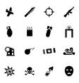 black terrorism icon set vector image vector image