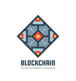 blockchain - concept logo template vector image vector image