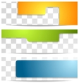 Bright geometry tech banners vector image vector image