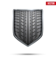 Bright shield in the racing tire inside vector image vector image