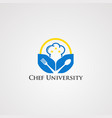chef university with little star and circle logo vector image