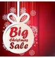 Christmas Big Sale template EPS10 vector image vector image
