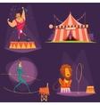 Circus Retro Cartoon Icon Set vector image vector image