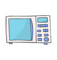 color hand drawn doodle of a microwave vector image vector image