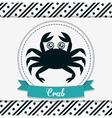 crab icon Sea animal cartoon graphic vector image vector image