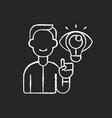 creative thinking chalk white icon on black vector image vector image