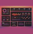 dashboard ux analytics data infographic vector image vector image
