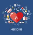 digital blue red big heart vector image vector image