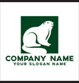 face rodent logo concept vector image vector image