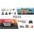 flat police elements concept vector image