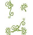 floral vintage element vector image vector image