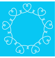 Frame made of rope hearts decorative knots vector image vector image