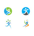 fun people healthy life logo template icon vector image vector image