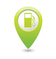 gas station map pointer green vector image vector image