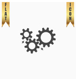 Gear with sparks vector image vector image