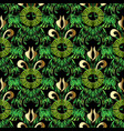 green leafy greek seamless pattern floral vector image