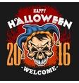 Happy Halloween Evil clown skull vector image vector image