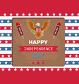 happy independence day eagle vector image vector image