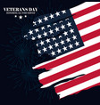 happy veterans day american flag in grunge style vector image vector image