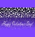 hearts design background greeting card valentine vector image