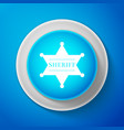 hexagonal sheriff star icon sheriff badge symbol vector image
