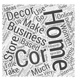 Home Decorating Business Ideas Word Cloud Concept vector image vector image